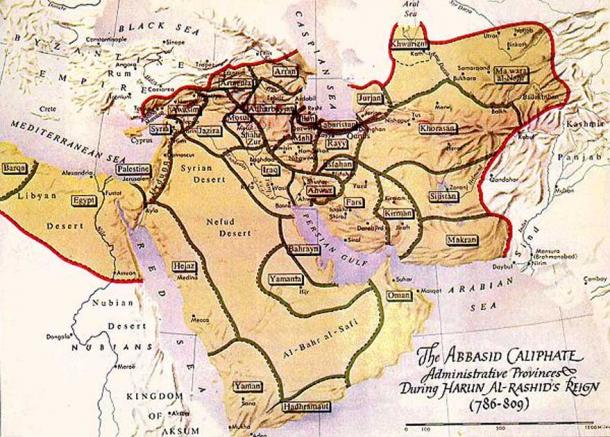 The Abbasid caliphate in the late 8th century