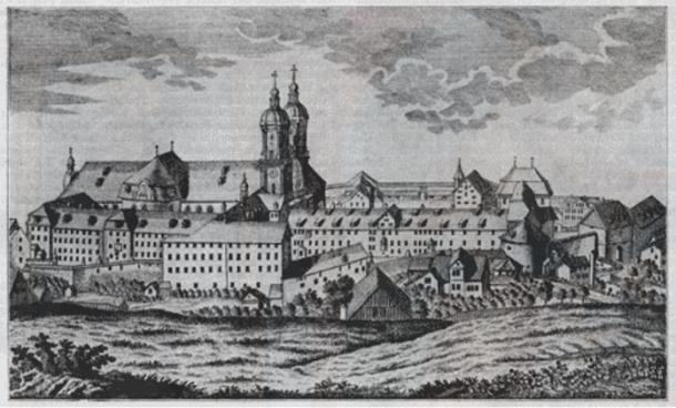 The Abbey of St. Gall in 1769 on a contemporary engraving.