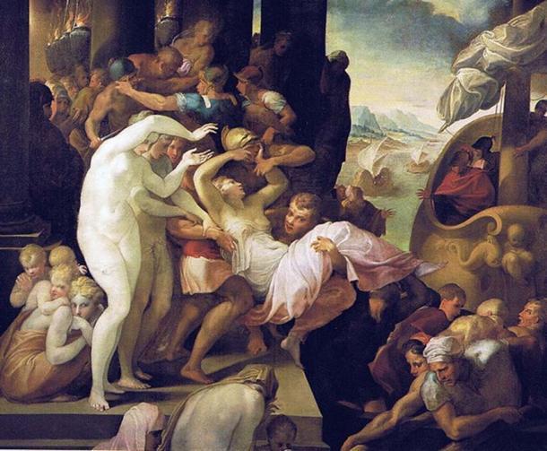 'The Abduction of Helen' (1530-1539) by Francesco Primaticcio. (Public Domain)