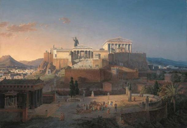 'The Acropolis at Athens' (1846) by Leo von Klenze.