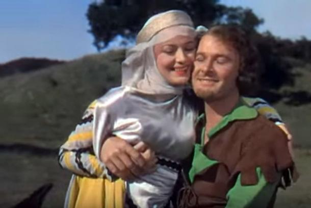 Olivia de Havilland and Errol Flynn from the original trailer for The Adventures of Robin Hood, 1938