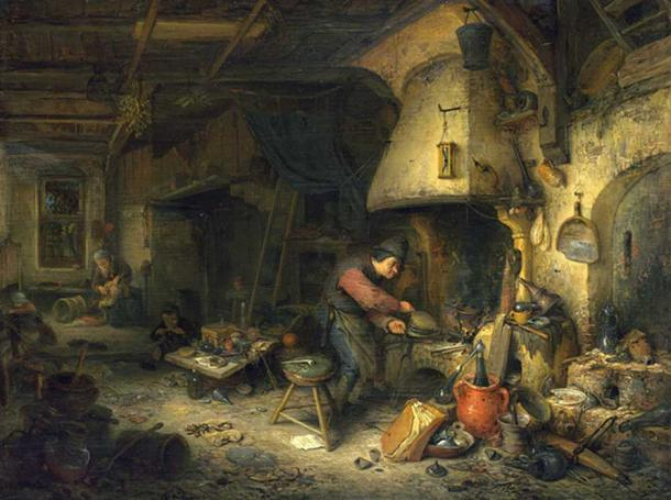 The Alchemist by Adriaen van Ostade (1661) (Public Domain)