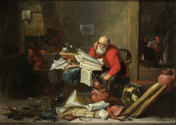 'The Alchemist' by Mattheus van Hellemont (public domain)