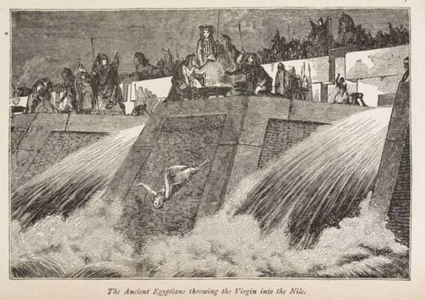 The Ancient Egyptians throwing a Virgin into the Nile, 1884