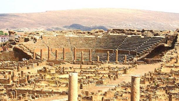 The Ancient Roman theater in Timgad. (Zinou2go/CC BY SA 3.0)