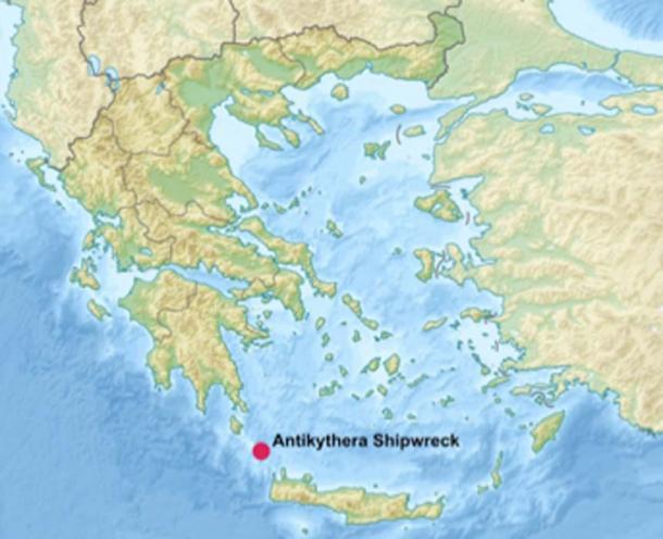 The Antikythera Shipwreck lies off the Greek island of Antikythera on the edge of the Aegean Sea, northwest of Crete. (Uwe Dedering / CC BY-SA 3.0)