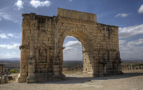 The Arch of Caracalla at Volubilis (looking southwest).