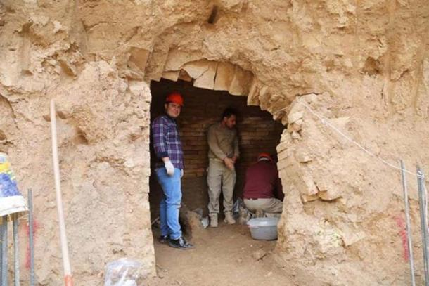 The Assyrian tomb recently discovered in Erbil, Iraq.