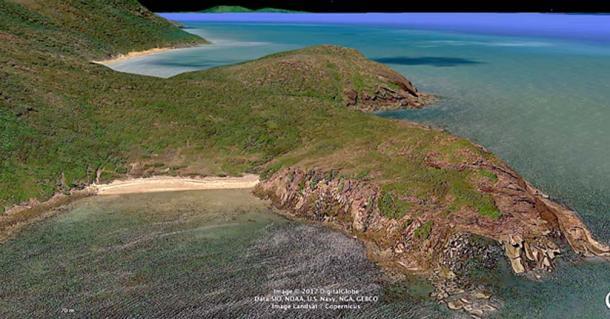 The Australian shoreline (Google Earth)