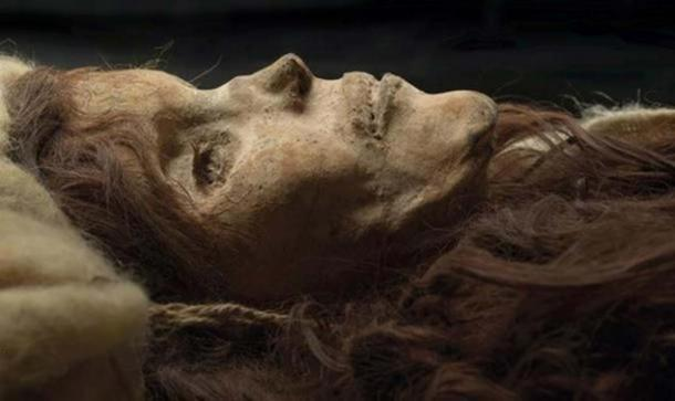 The Beauty of Loulan, a 3,800-year-old mummified woman with Caucasian features found in the Tarim Basin