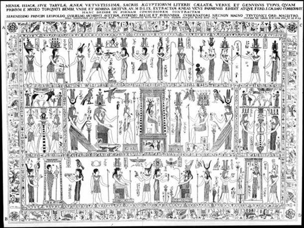 The Bembine Table of Isis. (Public Domain)