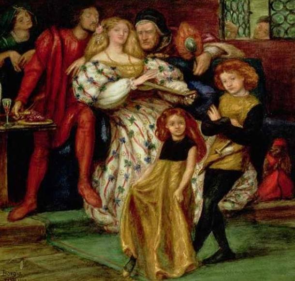The Borgia Family by Dante Gabriel Rossetti.