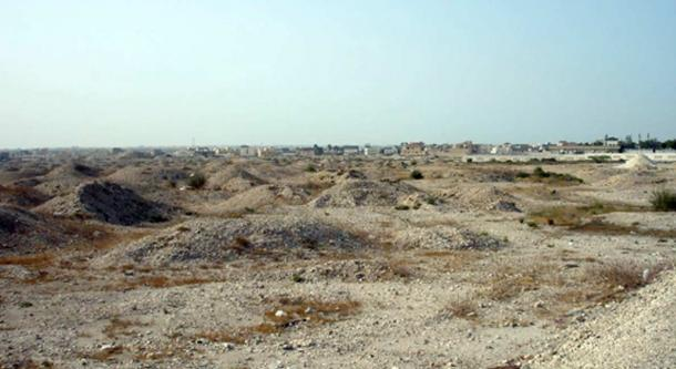 The Burial Mounds in A'ali, Bahrain. They date to the Dilmun era of Bahraini history