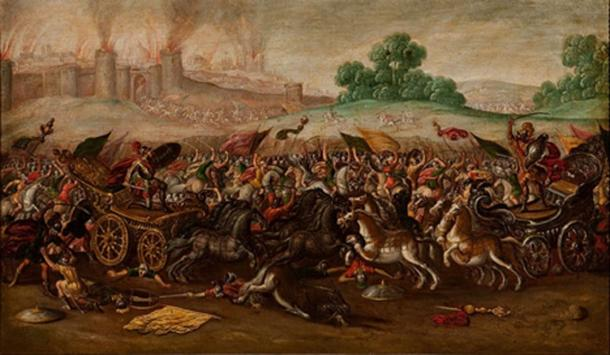The Burning of Jerusalem by Nebuchadnezzar's Army by Juan de la Corte (1580 - 1663) Fundación Banco Santander Collection (Public Domain)