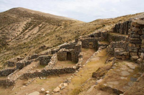 The Chincana ruins, Isla del Sol, Lake Titicaca