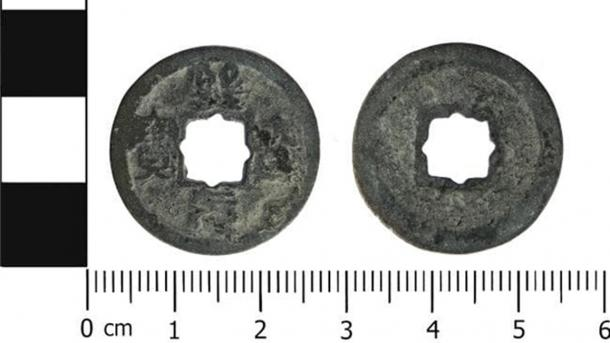 The Chinese coin found in Cheshire. (Portable Antiquities Scheme/CC BY SA 4.0)