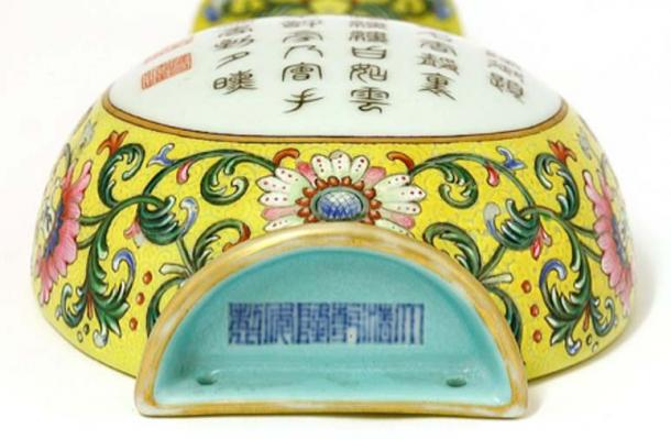 The Chinese vase was designed to be wall-mounted. Picture: Sworders /BNPS