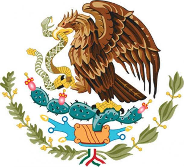 The Coat of Arms of Mexico.