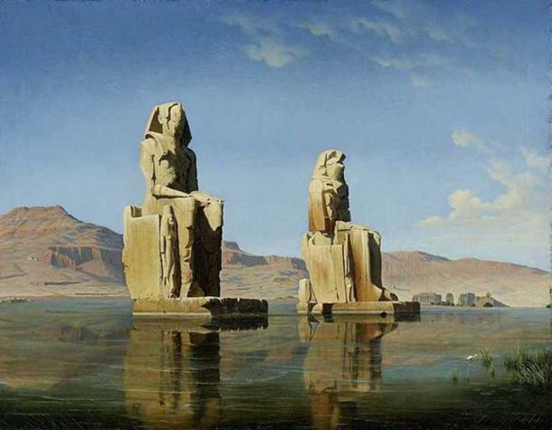 The Colossi of Memnon by Hubert Sattler