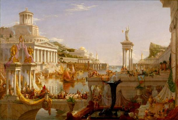 The Course of the Empire, painting of Rome by Thomas Cole. Photo source: Brandmeister / Public Domain.