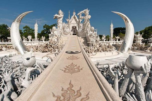 """The bridge of """"The Cycle of Rebirth"""", White Temple, Thailand"""