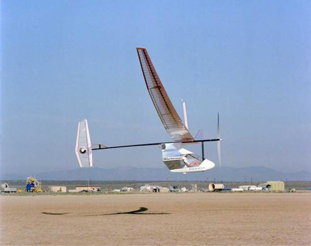The Daedalus 88 on its last flight for the NASA Dryden Flight Research Center, Edwards, California. (Public Domain)