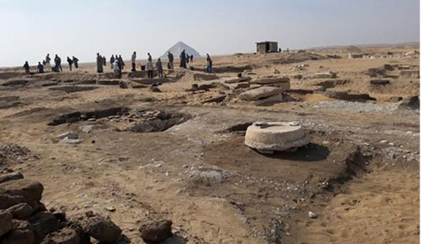 The Dahshur necropolis near the Pyramid of Amenemhat II,  where the sarcophagi have been located. (Ministry of Antiquities)