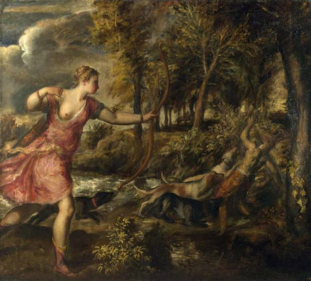 'The Death of Actaeon' (1559-1575) by Titian. (Public Domain)