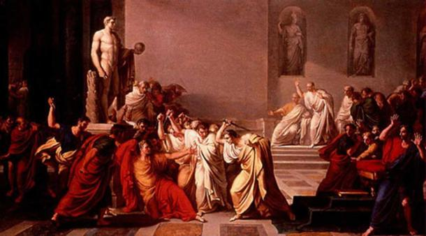 The Death of Julius Caesar, by Vincenzo Camuccini (1771-1844)