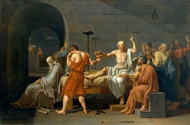 'The Death of Socrates' (1787) by Jacque-Louis David.