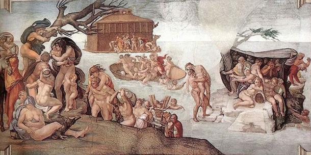 'The Deluge' (1508-1509) by Michelangelo.