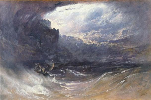 """""""The Deluge"""", by John Martin, 1834."""