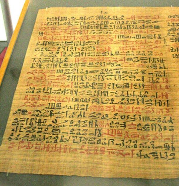 The Ebers Papyrus (c. 1550 BC) from ancient Egypt. (CC BY SA 3.0)