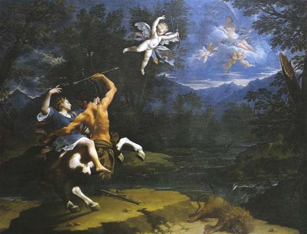 'The Education of Achilles by Chiron' (1714) by Donato Creti. (Public Domain)
