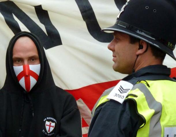 The English Defence League has appropriated the Cross of St George. Gavin Lynn via Wikimedia Commons