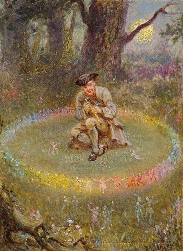 This fellow is probably in trouble – his hat is not on backwards. The Fairy Ring; the Enchanted Piper