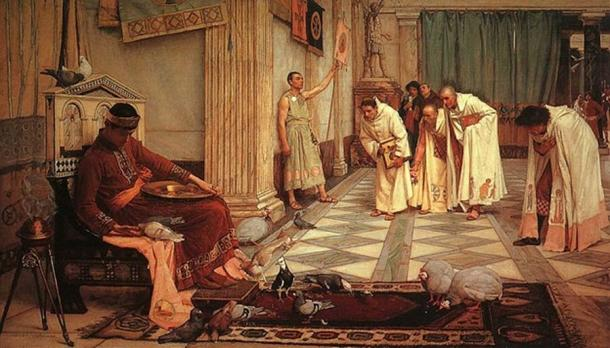 The Favorites of the Emperor Honorius , John William Waterhouse , 1883 (Public Domain)