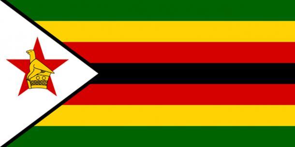 The Flag of Zimbabwe. (Public Domain)