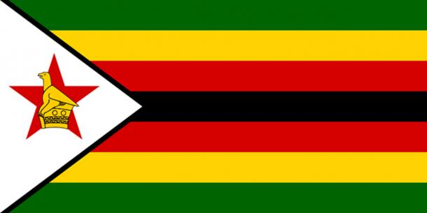 The Flag of Zimbabwe. (Public Domain)