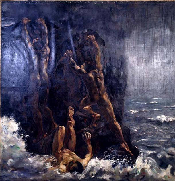 The Flood (Die Sintflut, Suendflut) by Lesser Ury.