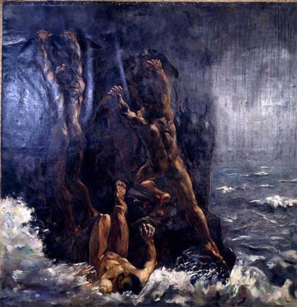 The Flood (Die Sintflut, Suendflut) by Lesser Ury. ( The Commons )