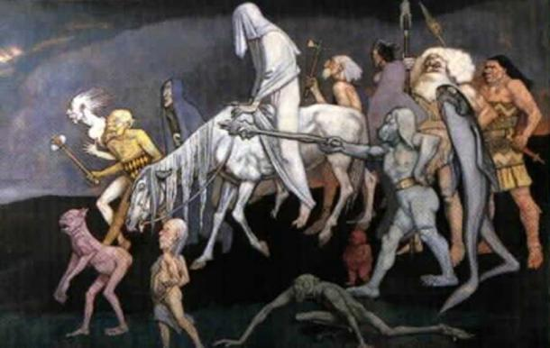 The Fomorians, as depicted by John Duncan (1912) (Public Domain)