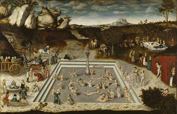 The Fountain of Youth: Lucas Cranach the Elder (1546).