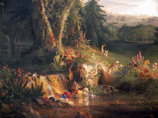 'The Garden of Eden' (1828) by Thomas Cole.