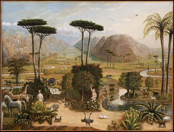 The Garden of Eden by Erastus Salisbury Field 1860
