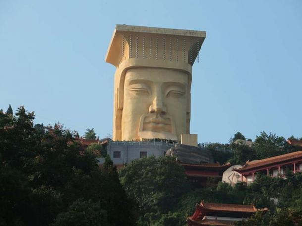 Large statue known as 'The Ghost King' on the hilltop at Fengdu Ghost City, Chongqing, China.