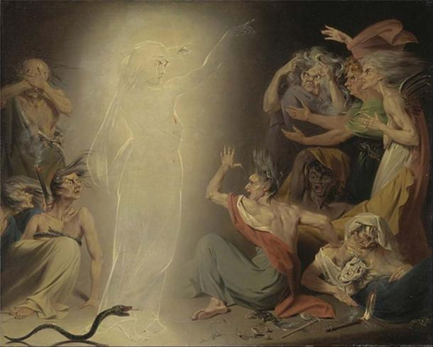 'The Ghost of Clytemnestra Awakening the Furies' (1781) by John Downman. (Public Domain)
