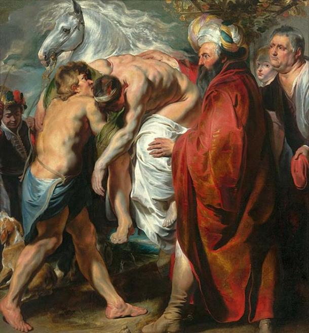 The Good Samaritan by Jacob Jordaens (public domain)
