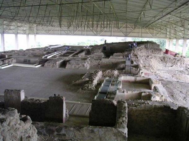 The Gran Basamento, or Great Platform, at the Cacaxtla archaeological site. (Hajor/CC BY SA 3.0)