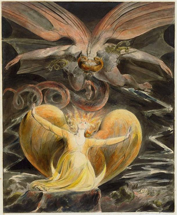 'The Great Red Dragon and the Woman clothed with the sun' by William Blake
